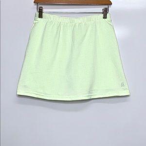 NIKE Pistachio Green Perforated Active Skirt Skort